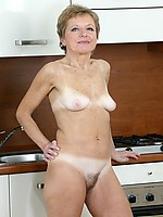 Petite granny with nice figure is toying her old snatch
